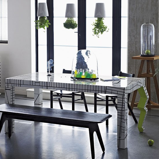 Urban dining room | Contemporary dining room designs | Image | Housetohome.co.uk