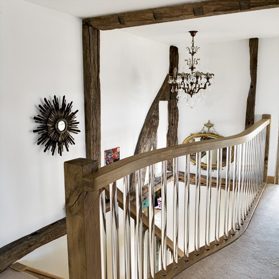 Country hallway with beams | Hallway decorating | Image | Housetohome.co.uk
