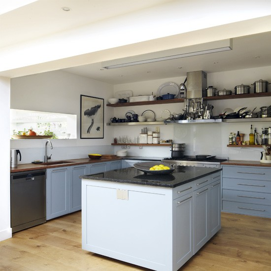 Cool blue kitchen | Kitchen designs | Image | Housetohome.co.uk