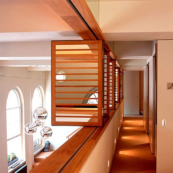 Contemporary hallway landing | Hallway ideas | Image | Housetohome.co.uk