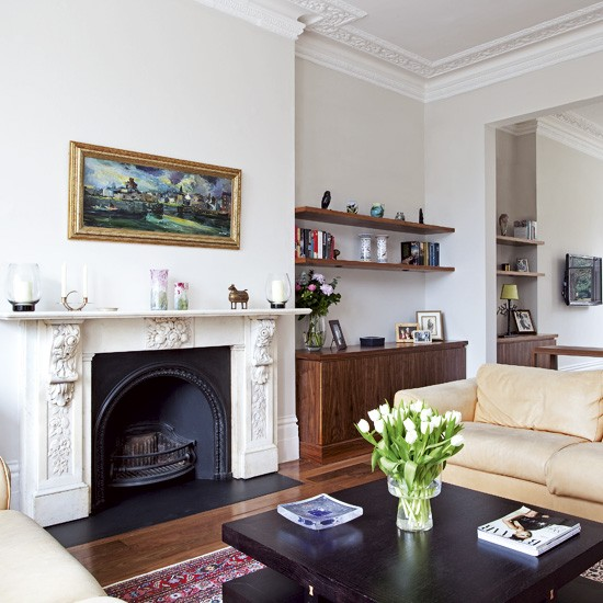 Traditional white living room | Living room designs | image