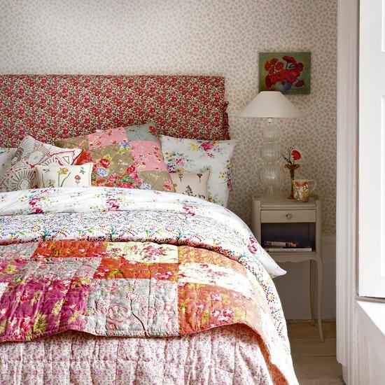 Floral vintage-look bedroom | Bedroom designs | Image | Housetohome.co.uk