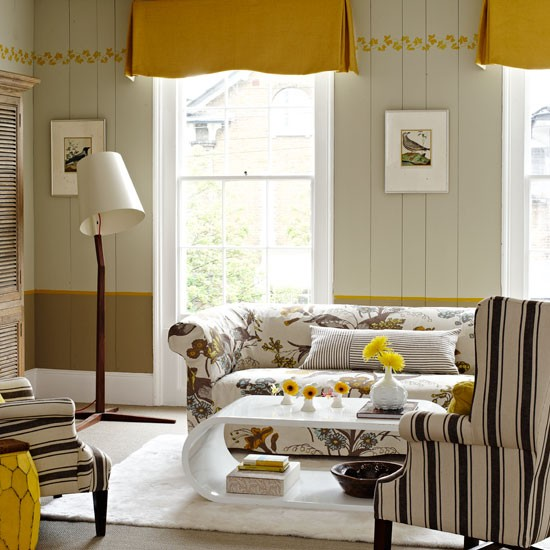 Eclectic yellow living room | Living room designs | Image | Housetohome.co.uk