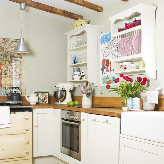 Country style kitchen with open shelving | Country kitchens | kitchens | decorating | Housetohome.co.uk