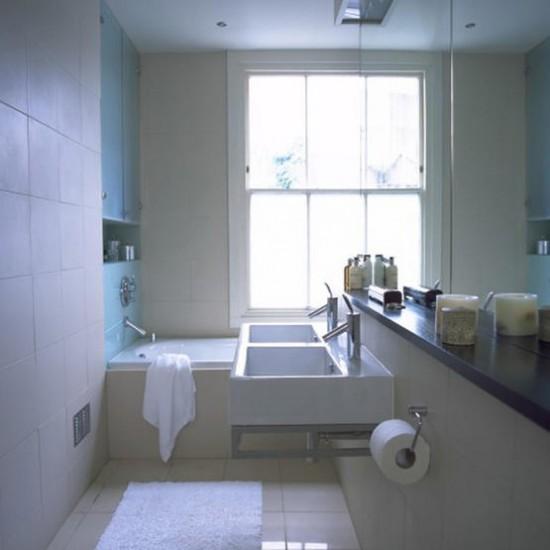 Small stone bathroom | Decorating ideas | Image | Housetohome.co.uk