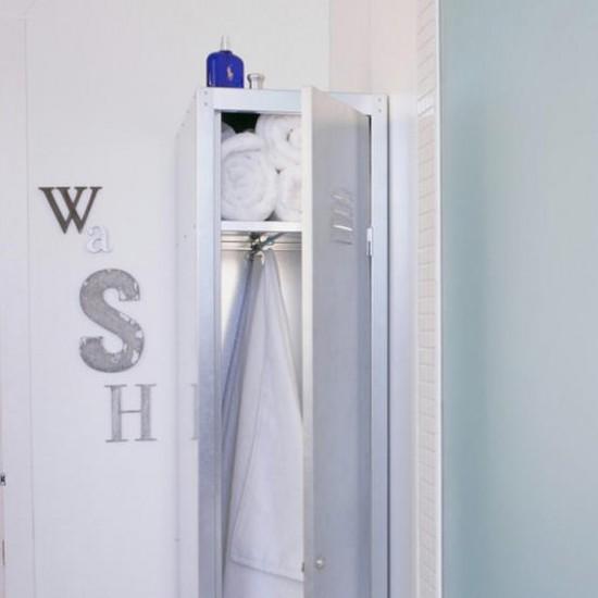 Bathroom locker | White bathroom | Image | Housetohome.co.uk