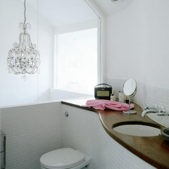 Glamorous white bathroom | Bathroom | Image | Housetohome.co.uk
