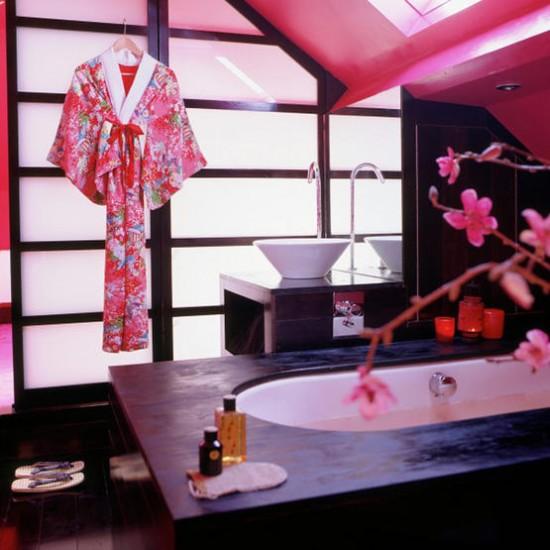 Pink Oriental bathroom | Modern bathrooms | Image | Housetohome.co.uk