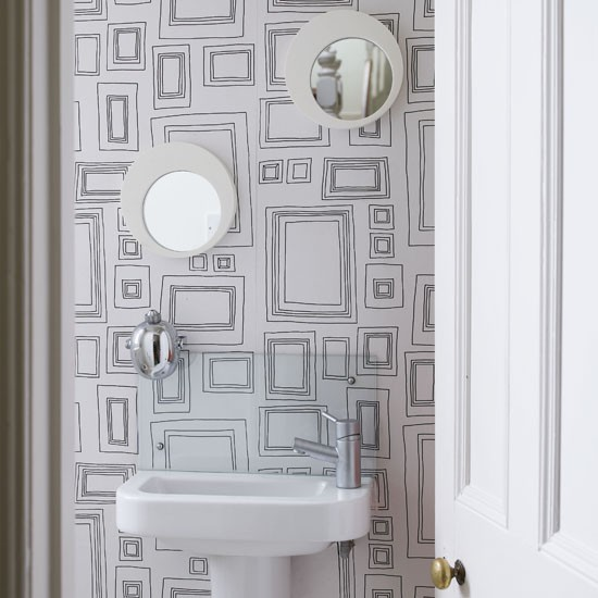 Bathroom | Statement wallpaper | Image | Housetohome.co.uk