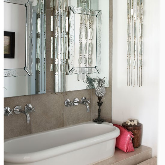 Glamorous bathroom bathroom ideas mirrors for Bathroom ideas uk