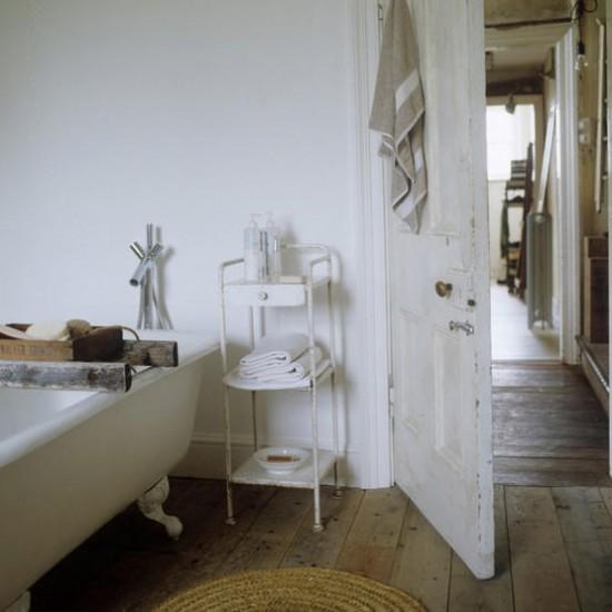 Rustic white bathroom bathroom designs for Living etc bathroom ideas