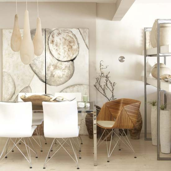 Natural dining room dining room ideas neutral tones - Stylish modern dining sets for neutral toned interior ...