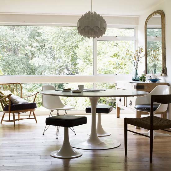 White retro dining room | Dining room | Image