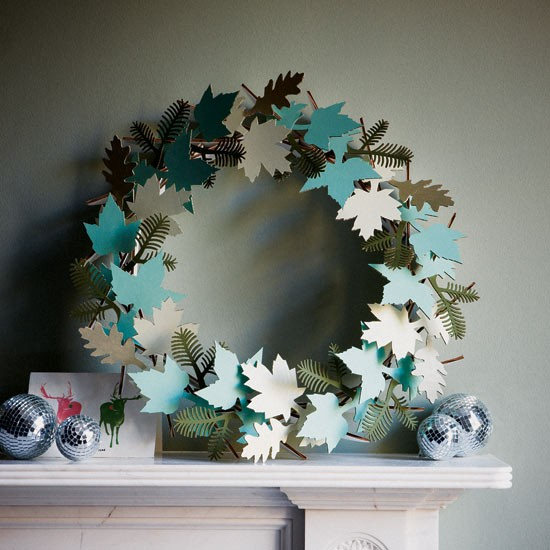 Delicate paper wreath | Modern Christmas decorating ideas | Christmas decorating ideas | Christmas decorations | PHOTO GALLERY | Housetohome.co.uk