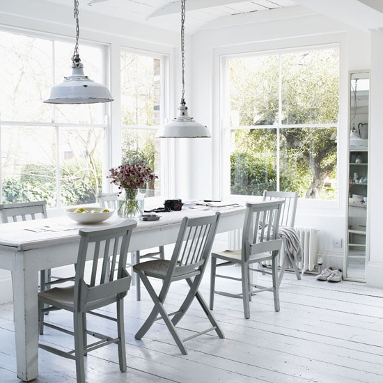 White rustic dining room dining room designs dining for Rustic dining room designs