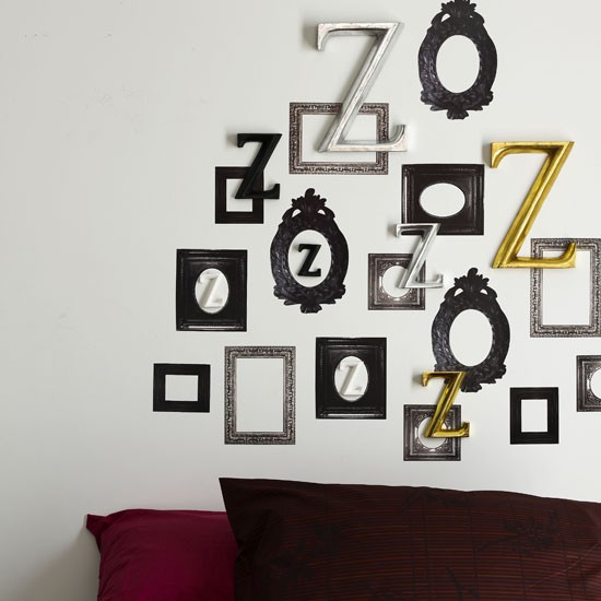 modern feature bedroom wall wall displays frames