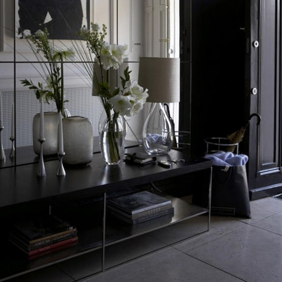 Elegant black hallway | Hallway ideas | Storage furniture | Images | Housetohome.co.uk