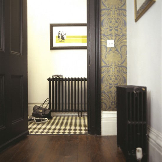 Regency Pattern Wallpaper Modern Regency Hallway