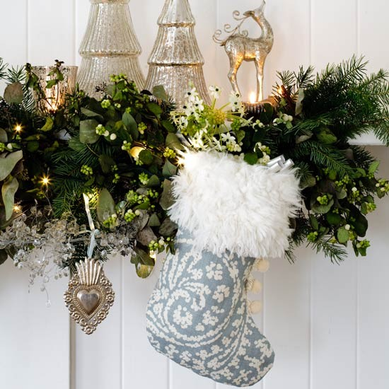 Choose a fancy stocking | Country Christmas decorating ideas | Christmas decorating ideas | Christmas decorations | PHOTO GALLERY | Country Homes & Interiors Housetohome