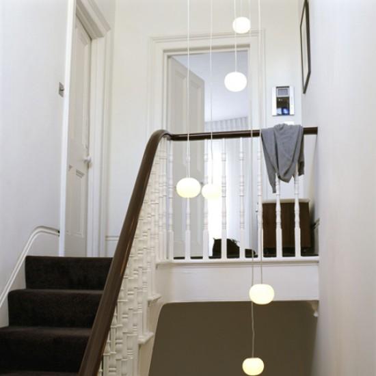 White hallway with lights hallway decorating ideas - Ideas for hallway lighting ...