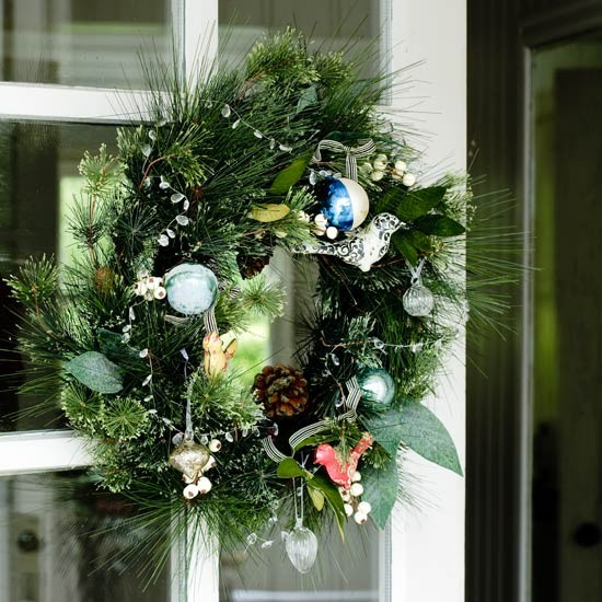 Hang a wreath | Country Christmas decorating ideas | Christmas decorating ideas | Christmas decorations | PHOTO GALLERY | Country Homes & Interiors Housetohome