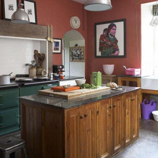 Traditional kitchen with central island | Kitchen ideas | Island | Image |Housetohome.co.uk
