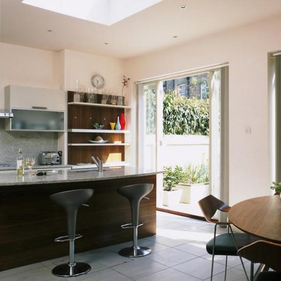 Modern wood and marble kitchen | Kitchen design | Bar stools | Image | Housetohome.co.uk