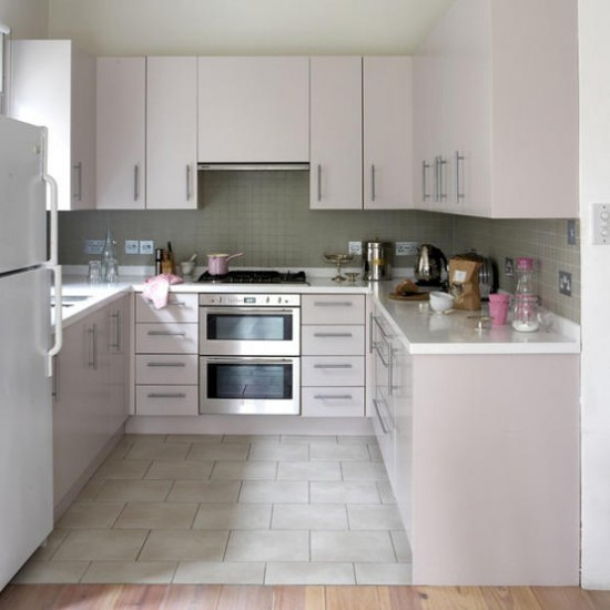Retro pink kitchen | Kitchen designs | Pink worktop | Image | Housetohome.co.uk