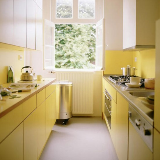 Small yellow kitchen | Kitchen ideas | Colourful kitchens | Image | Housetohome.co.uk