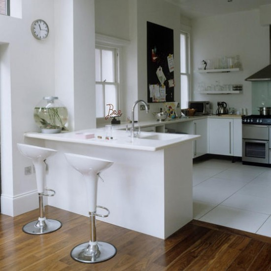Kitchen Floor Tiles For White Cabinets: White Modern Kitchen