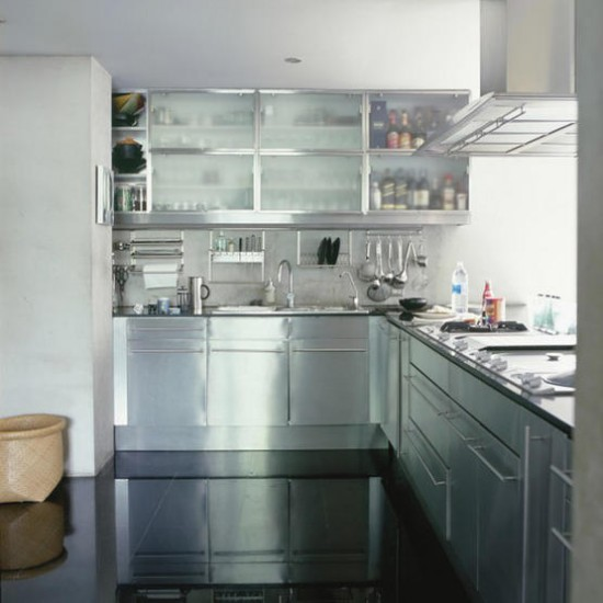 Stainless steel modern kitchen kitchen designs worktop for Kitchen designs stainless steel
