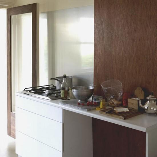 Simple wooden kitchen | Kitchen ideas | Wood panel | Image | Housetohome.co.uk