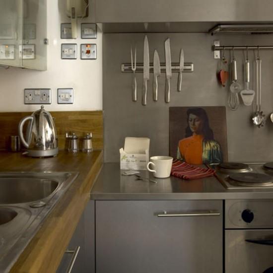 Simple Stainless Steel Kitchen