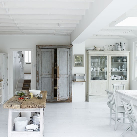 White modern kitchen-diner | Kitchen-diner designs | Cupboard | Image | Housetohome.co.uk