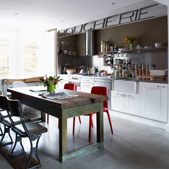 Eclectic kitchen kitchen ideas worktops housetohome for Kitchen ideas eclectic