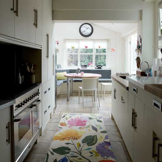 Narrow modern kitchen | Kitchen decorating ideas | Small kitchens | Image | Housetohome.co.uk