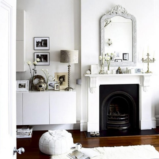 Traditional white living room | Living room ideas | Footstool | Image | Housetohome.co.uk