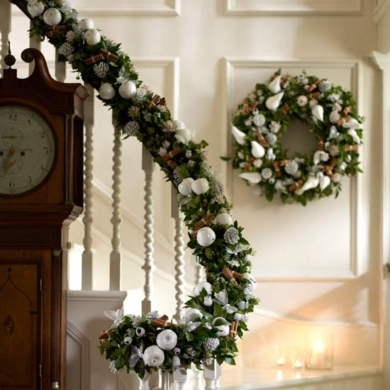 Decorate your banister essential christmas decorations for Home christmas decorations uk