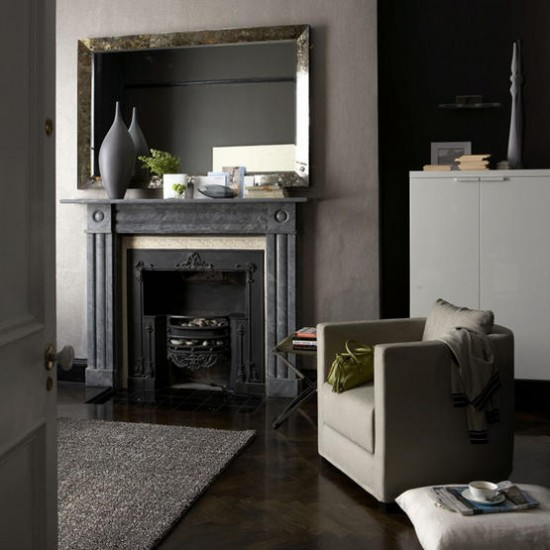 Grey sophisticated living room | Living room ideas | Mirror | Image | Housetohome.co.uk