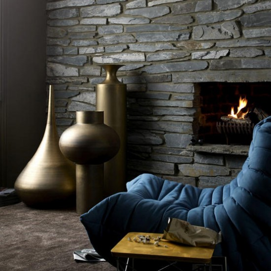Textured living room | Living room ideas | Fireplace | Image | Housetohome.co.uk