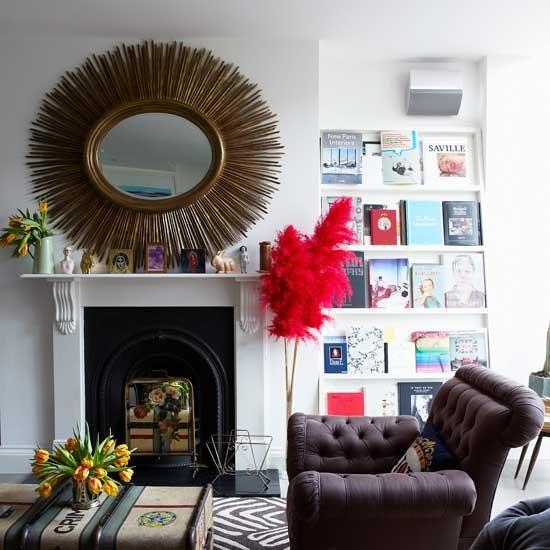 Modern living room display | Living room idea | Mirror | Image | Housetohome.co.uk