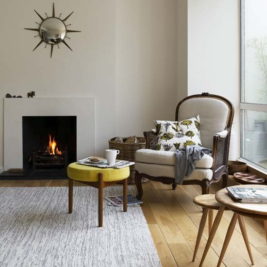 Light white living room | Living room designs | Footstool | Image | Housetohome.co.uk
