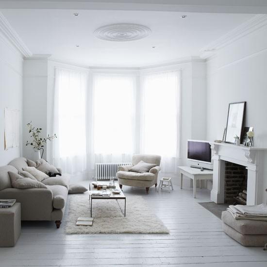 Neutral living room | Living room idea | Fireplace | Image | Housetohome.co.uk