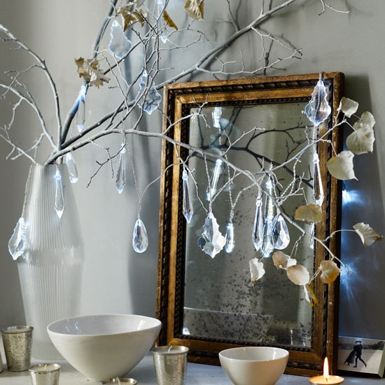 Add shimmering touches to your mantelpiece this Christmas