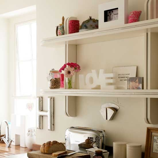 Neutral kitchen shelves | Storage idea | Shelving | Image | Housetohome.co.uk