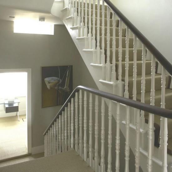 Traditional White Staircase Hallway Hallway Idea