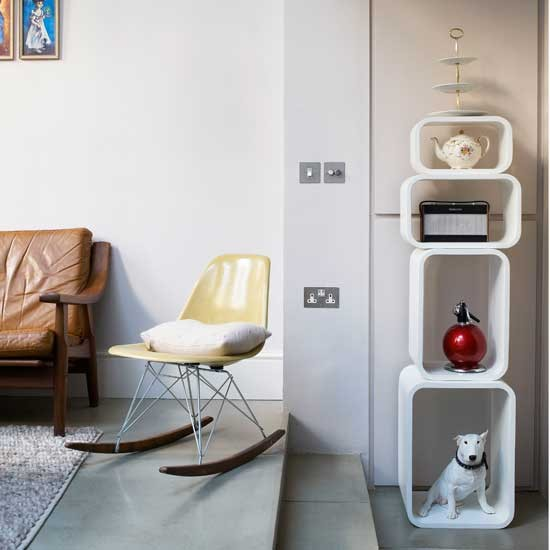 White feature shelves   Shelving idea   Storage   Image   Housetohome.co.uk
