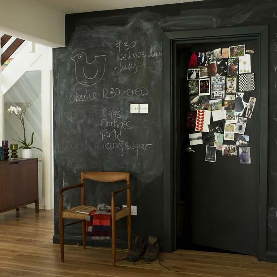 Hallway chalkboard wall | Hallway idea | Chalkboard | Image | Housetohome.co.uk