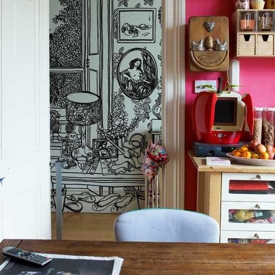 Modern hallway wallpaper | Hallway idea | Mural | Image | Housetohome.co.uk