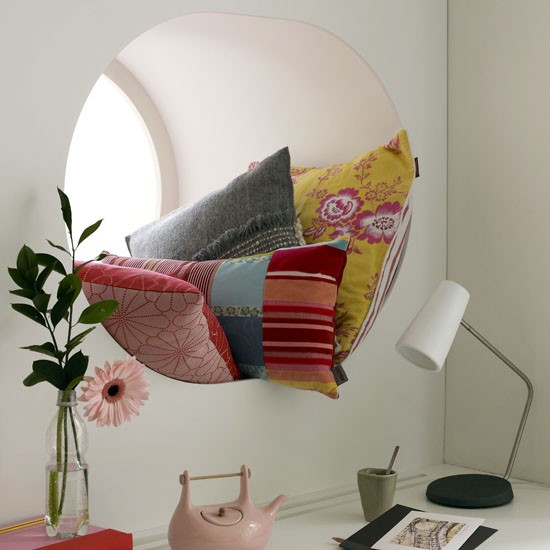 Modern window cushions | Living room idea | Soft furnishings | Image | Housetohome.co.uk